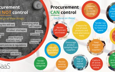 What procurement can control during the coronavirus pandemic